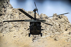 May 27, 2017 - Afghanistan - Army pilots fly a UH-60 Black Hawk helicopter on a mission from an undisclosed location near Kandahar Airfield, Afghanistan, May 27, 2017.  (Credit Image: © Brian Harris/Army/DoD via ZUMA Wire/ZUMAPRESS.com)
