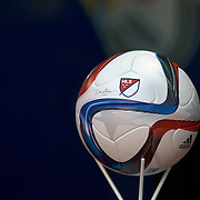 The MLS Adidas Nativo matchball before the New York Red Bulls Vs D.C. United Major League Soccer regular season opening match at Red Bull Arena, Harrison, New Jersey. USA. 22nd March 2015. Photo Tim Clayton