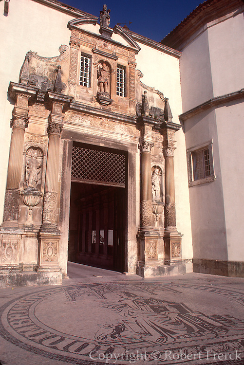 PORTUGAL, CENTRAL AREA, COIMBRA country's oldest University; founded in 1290, main entry into the Universidade Velha (old University)