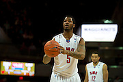 DALLAS, TX - JANUARY 15: Markus Kennedy #5 of the SMU Mustangs shoots a free-throw against the South Florida Bulls on January 15, 2014 at Moody Coliseum in Dallas, Texas.  (Photo by Cooper Neill/Getty Images) *** Local Caption *** Markus Kennedy