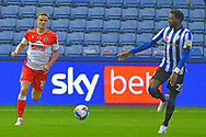 Matt Smith, Elias Kachunga during the EFL Sky Bet Championship match between Sheffield Wednesday and Millwall at Hillsborough, Sheffield, England on 7 November 2020.