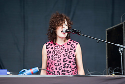 Annie Mac on the Main Stage, Rockness, Saturday, 11th June 2011..RockNess 2011, the annual music festival which takes place in Scotland at Clune Farm, Dores, on the banks of Loch Ness near Inverness..Pic ©2011 Michael Schofield. All Rights Reserved..