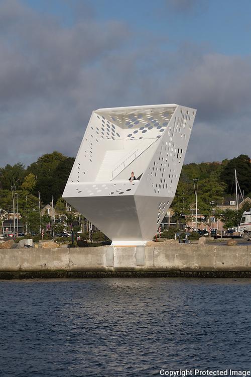 Viewing Tower, Aarhus Harbour, Denmark 2015. Architect: Dorte Mandrup Arkitekter. Engineer: Søren Jensen