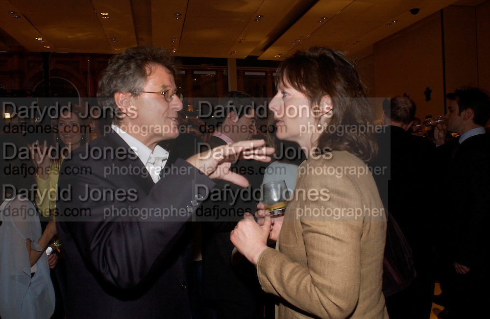 David Jenkins and Rebecca FitzGerald. Book party for LAST VOYAGE OF THE VALENTINA by Santa Montefiore (Hodder & Stoughton) Asprey,  New Bond St. 12 April 2005. ONE TIME USE ONLY - DO NOT ARCHIVE  © Copyright Photograph by Dafydd Jones 66 Stockwell Park Rd. London SW9 0DA Tel 020 7733 0108 www.dafjones.com