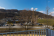 View of the valley from the balcony of the apartment in a place of peace