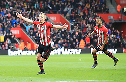Southampton's James Ward-Prowse (left) celebrates scoring his side's second goal of the game with team-mates