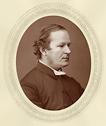 'Rederick William Farrar (1831-1903) c1876,English Anglican churchman. A master at Harrow School 1855-1870, Headmaster of Marlborough College 1871-1876. Dean of Canterbury 1895-1903.'