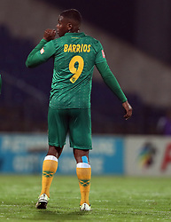 Mauricio Barrios of Golden Arrows during the 2016 Premier Soccer League match between Maritzburg Utd and Golden Arrows held at the Harry Gwala Stadium in Pietermaritzburg, South Africa on the 28th October 2016<br /> <br /> Photo by:   Steve Haag / Real Time Images