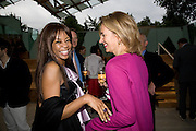 DAMBISA MOYO; CAROLINE MICHEL, Frank Gehry Serpentine Pavilion opening event: Serpentine Gallery, Kensington Gardens. London. 18 July 2008 *** Local Caption *** -DO NOT ARCHIVE-© Copyright Photograph by Dafydd Jones. 248 Clapham Rd. London SW9 0PZ. Tel 0207 820 0771. www.dafjones.com.