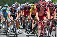 CYCLING - TOUR DE FRANCE 2010 - SAINT JEAN DE MAURIENNE (FRA) - 13/07/2010 - PHOTO : VINCENT CURUTCHET / DPPI - <br /> STAGE 9 - MORZINE AVORIAZ > SAINT-JEAN-DE-MAURIENNE - CADEL EVANS (AUS) / BMC RACING TEAM AND ANDY SCHLECK (LUX) / SAXO BANK