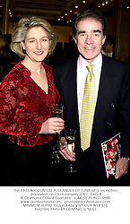 The EARL & COUNTESS ALEXANDER OF TUNIS at a reception in London on 22nd January 2001.OKO 4
