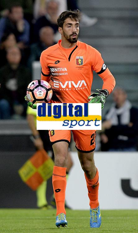 Eugenio Lamanna Genoa <br /> Torino 23-04-2017, Juventus Stadium, Football Calcio 2016/2017 Serie A, Juventus - Genoa, Foto Filippo Alfero/Insidefoto