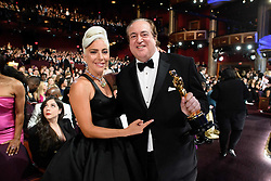 Lady Gaga and Nick Vallelonga pose during the live ABC Telecast of The 91st Oscars® at the Dolby® Theatre in Hollywood, CA on Sunday, February 24, 2019.