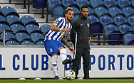 Alex Telles of Porto in action with during the Portuguese League (Liga NOS) match between FC Porto and Maritimo at Estadio do Dragao, Porto, Portugal on 3 October 2020.