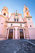 The Church of Our Lady of Guadalupe in the central historic district of Coatepec, Veracruz State, Mexico.