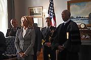 "Tea Leoni and Morgan Freeman in ""Madam Secretary"""