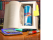 Better than cheating. 3D Modeling and Photoshop compositing with supplied product shot for Red Bull Twitter.