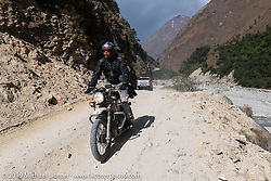 Motorcycle Sherpa's Ride to the Heavens motorcycle adventure in the Himalayas of Nepal. On the fifth day of riding, we went from Muktinath to Tatopani. Friday, November 8, 2019. Photography ©2019 Michael Lichter.