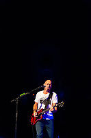 Guitarist and vocalist Simon Townshend (brother of Pete Townshend), Roger Daltrey performs the Who's Tommy, 1st Bank Center, Broomfield (Metro Denver), Colorado USA