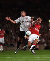 Photo: Tony Oudot.<br /> Arsenal v Sparta Prague. UEFA Champions League Qualifying. 29/08/2007.<br /> Robin Van  of Arsenal gets in a shot past Spartas Jan Rezek