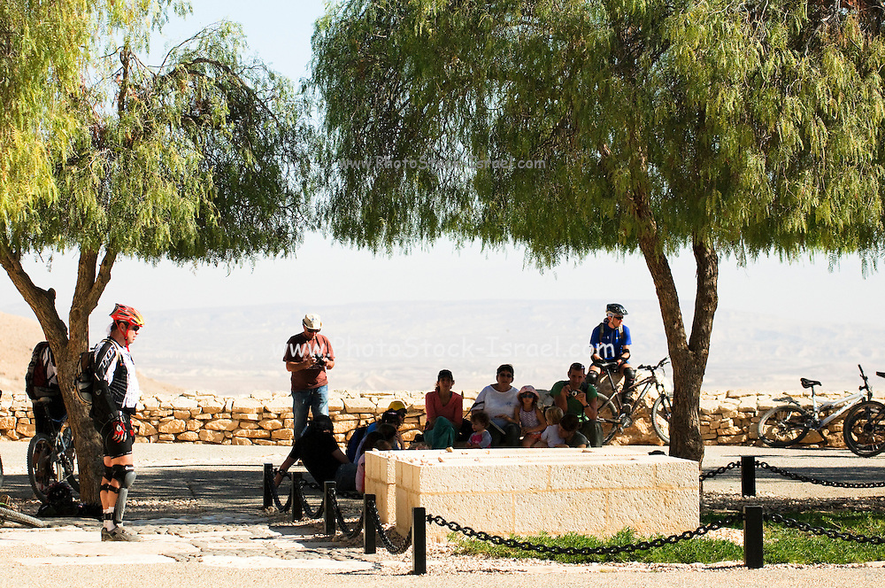 Israel, Negev, Kibbutz Sde Boker, the graves of David and Pola Ben Gurion