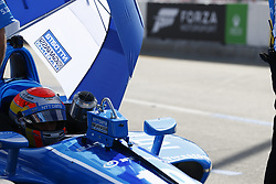 April 13, 2018 - Long Beach, California, United States of America - April 13, 2018 - Long Beach, California, USA: Ed Jones (10) sits in his car while his crew makes adjustments on it during practice for the Toyota Grand Prix of Long Beach at Streets of Long Beach in Long Beach, California. (Credit Image: © Justin R. Noe Asp Inc/ASP via ZUMA Wire)