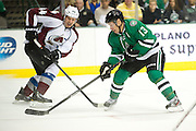 DALLAS, TX - NOVEMBER 1:  Ray Whitney #13 of the Dallas Stars controls the puck against the Colorado Avalanche on November 1, 2013 at the American Airlines Center in Dallas, Texas.  (Photo by Cooper Neill/Getty Images) *** Local Caption *** Ray Whitney