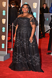 © Licensed to London News Pictures. 18/02/2018. London, UK. OCTOVIA SPENCER arrives on the red carpet for the EE British Academy Film Awards 2018, held at the Royal Albert Hall. London, UK. Photo credit: Ray Tang/LNP