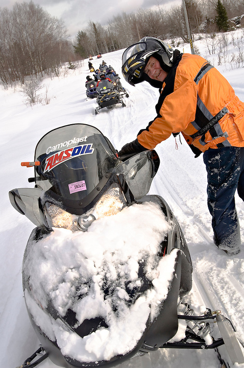 Richard Decker, owner of Decker Snow-Venture Tours, while leading a tour of Michigan's Upper Peninsula.