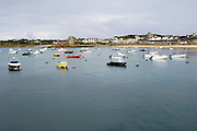 Isles of Scilly, 20 May 2009: View of St Mary's harbour with the St Mary's Church in the background. Photo by Peter Horrell / http://peterhorrell.com