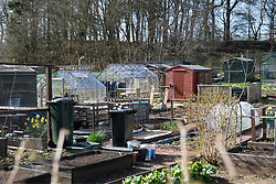 Livingston gardeners tend their allotments, 07 April 2020<br /> <br /> Some gardeners are keeping their allotments in shape during the coronavirus lockdown. West Lothian Council have said they can use it as part of their daily exercise as long as they keep to social distancing rules.<br /> <br /> The West Lothian Council website has the following advice:<br /> <br /> Allotments<br /> <br /> If you visit your allotment as your daily exercise, you must adhere to the rules on social distancing and hygiene. Handwashing is especially important before and after touching shared surfaces such as gates and taps. Shared indoor spaces on allotment sites should not be used, to minimise the risk of virus transmission.<br /> <br /> The Scottish Government has published the following statement on allotment sites during the COVID-19 outbreak:<br /> <br /> Decisions on whether or not to keep allotment sites open during the COVID-19 outbreak are currently a matter for local authorities and other allotment owners. Those wishing to access allotments should note that the Scottish Government has instructed people to stay at home. The Health Protection (Coronavirus) (Restrictions) (Scotland) Regulations 2020 prohibit any person from leaving the place they are living without a reasonable excuse, and ban public gatherings of more than two people. People over the age of 70 are advised to self-isolate.<br /> <br /> Pictured: The Livingston allotment is locked up but gardeners have keys<br /> <br /> Alex Todd | Edinburgh Elite media
