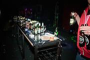 Kultur Shock in Belgrade, Serbia..Beer bottles after the show
