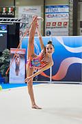 Gaia Garrofolo from Rhytmic School team during the Italian Rhythmic Gymnastics Championship in Padova, 25 November 2017