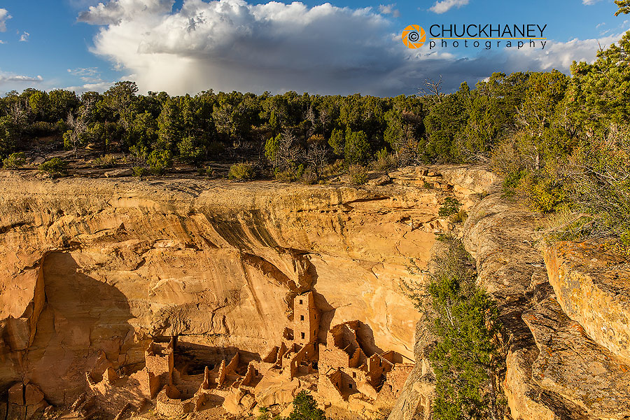 Square Tower House in Mesa Verde National Park, Colorado, USA