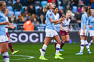 Manchester City Women defender Steph Houghton (captain) (6) reacts during the FA Women's Super League match between Manchester City Women and West Ham United Women at the Sport City Academy Stadium, Manchester, United Kingdom on 17 November 2019.