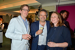 Left to right, ?, MARK HIX and ANGELA HARTNETT at the 2016 Fortnum & Mason Food & Drink Awards held at Fortnum & Mason, Piccadilly, London on 12th May 2016.