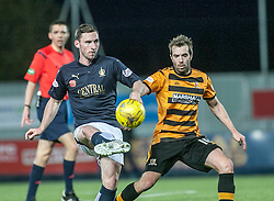 Falkirk's Bob McHugh and Alloa Athletic's Graeme Holmes. <br /> Falkirk 5 v 0 Alloa Athletic, Scottish Championship game played at The Falkirk Stadium. © Ross Schofield