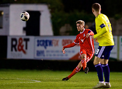 RHYL, WALES - Wednesday, November 14, 2018: Wales' captain Ryan Reynolds during the UEFA Under-19 Championship 2019 Qualifying Group 4 match between Wales and Scotland at Belle Vue. (Pic by Paul Greenwood/Propaganda)