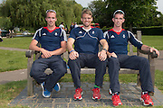 Caversham, Nr Reading, Berkshire.<br /> <br /> left to right. Peter CHAMBERS, Alan CAMPBELL and Richard CHAMBERS, Olympic Rowing Team Announcement  Press conference at the RRM. Henley.<br /> <br /> Thursday  09.06.2016<br /> <br /> [Mandatory Credit: Peter SPURRIER/Intersport Images] 09.06.2016,