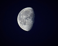 Waning Gibbous Moon. Image taken with a Nikon D5 camera and 600 mm f/4 VR lens (ISO 100, 600 mm, f/4, 1/640 sec).