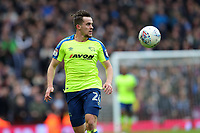 Aston Villa v Derby County - Sky Bet Championship<br /> BIRMINGHAM, ENGLAND - APRIL 28 :  jaime Hanson, of Derby County, gets on the ball at Aston Villa.
