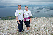 22/06/2014 <br /> Derek Tuite Mullingar and Cora Wright Tullamore  who climbed the  765 metre Croagh Patrick in Mayo as part of the 30th Anniversary Celebrations of  Self Help Africa and to support the work of Self Help Africa in 10 countries in Africa. Photo: Andrew Downes