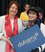 17/08/2016 Treena Sweeney from Millars in Clifden presenting Most Appropriately dressed lady Pauline Gorman from Sligo with her Dubarry Boots at the 93rd Connemara Pony Show in Clifden. Photo:Andrew Downes, XPOSURE