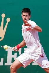 14.04.2010, Country Club, Monte Carlo, MCO, ATP, Monte Carlo Masters, im Bild Novak Djokovic (SRB) in action. EXPA Pictures © 2010, PhotoCredit: EXPA/ M. Gunn / SPORTIDA PHOTO AGENCY