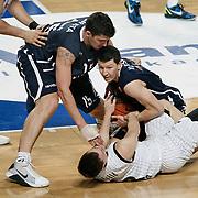 Anadolu Efes's Vlado ILIEVSKI (C) during their Turkish Airlines Euroleague Basketball Group C Game 6 match Anadolu Efes between Partizan at Sinan Erdem Arena in Istanbul, Turkey, Wednesday, November 23, 2011. Photo by TURKPIX