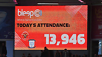 The game's attendance.  The best this season so far perhaps?<br /> <br /> Photographer Dave Howarth/CameraSport<br /> <br /> The EFL Sky Bet Championship - Blackpool v Preston North End - Saturday 23rd October 2021 - Bloomfield Road - Blackpool<br /> <br /> World Copyright © 2020 CameraSport. All rights reserved. 43 Linden Ave. Countesthorpe. Leicester. England. LE8 5PG - Tel: +44 (0) 116 277 4147 - admin@camerasport.com - www.camerasport.com