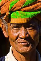 Pao tribe man in Indein village, Inle Lake, Indein, Inle Lake, Shan State, Myanmar (Burma)
