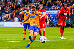 Danny Rose of Mansfield Town scores his penalty to give Mansfield Town the lead - Mandatory by-line: Ryan Crockett/JMP - 20/08/2019 - FOOTBALL - One Call Stadium - Mansfield, England - Mansfield Town v Leyton Orient - Sky Bet League Two