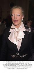 HRH PRINCESS MICHAEL OF KENT at a reception in London on 28th November 2000.OJN 18