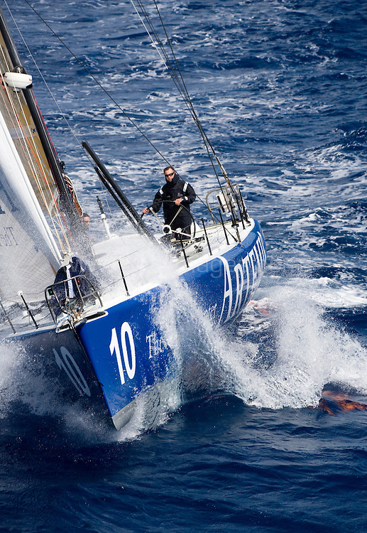 Pictures of Artemis Ocean Racing's new skipper Jonny Malbon . shown here training on board his Open 60. Antigua. West Indies...Please credit all pictures: Lloyd Images..For further details contact Mark Lloyd .e:hello@lloydimages.com.t:+44 7970 798 011